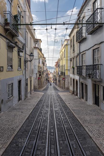 December 24, 2017: Portugal- Lisbon- Ascensor da Bica railway line