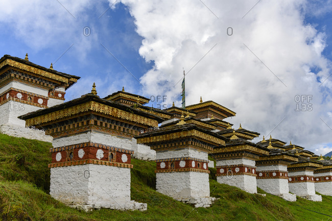 View to Chorten- Bhutan on a sunny day