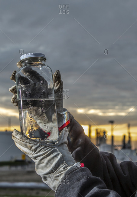 Chemical sample taken at refinery