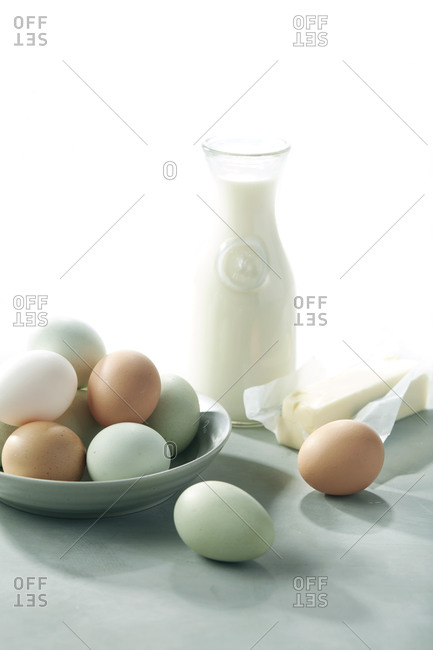 Fresh Farm to Table Eggs, Butter and Milk