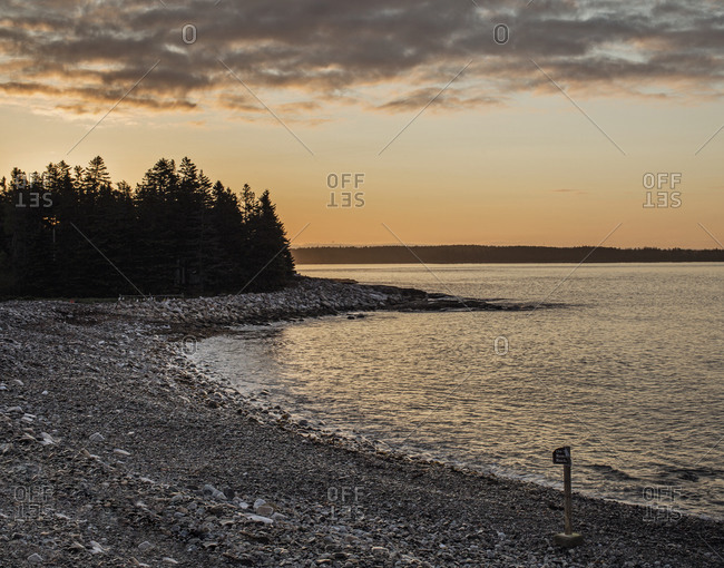Sunrise at Seawall Beach, Acadia National Park, Maine