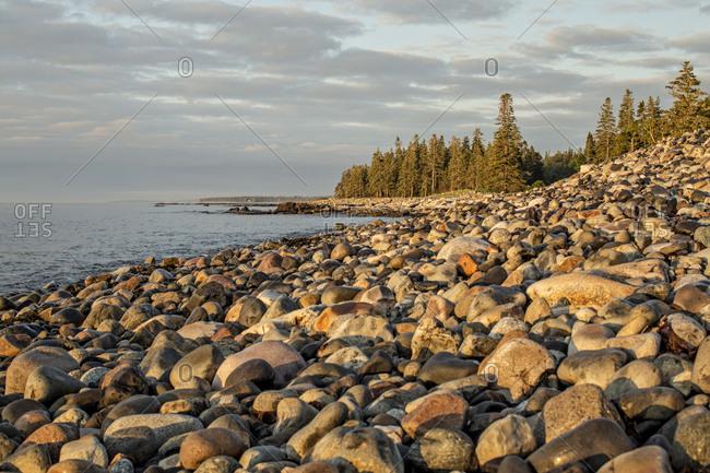 Sunrise along rugged Atlantic coast of Maine, Acadia National Park