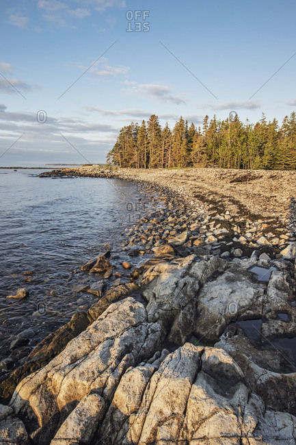 Sunrise along the rocky Maine Coast, Acadia National Park