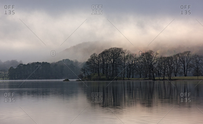 Scenic view of lake Windermere in the British Lake District