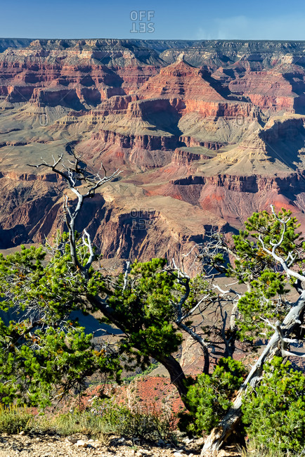 Scenic sunrise view of the Grand Canyon from the South Rim at Hopi Point
