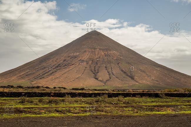 Volcano near La Oliva, Las Palmas, Fuerteventura, Canary Islands, Spain.