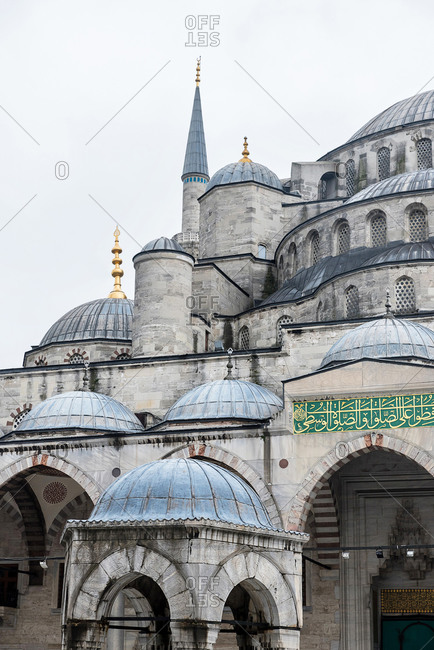 February 20, 108: Domes and towers of Blue Mosque. Istanbul, Turkey