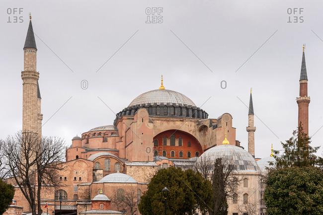 View of Hagia Sophia. Istanbul, Turkey