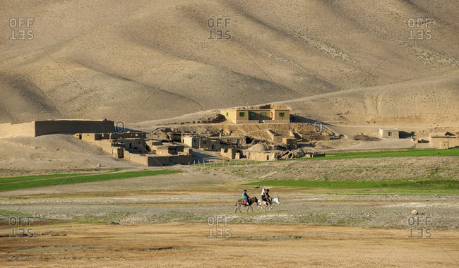 A small village in Bamiyan province in Afghanistan