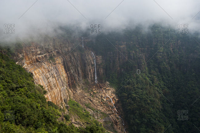 Nohkalikai falls at Cherapungee in Meghalaya is the forth highest waterfall in the world