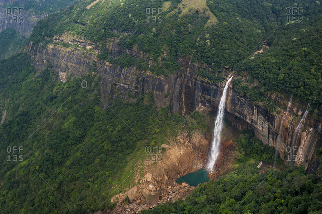 Nohkalikai falls is the forth highest waterfall in the world