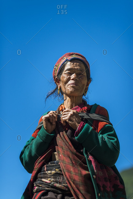 A Nepali woman from the Tamang Heritage region close to Langtang