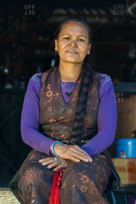 Nepali woman from a small village in the Tamang Heritage region close to Langtang in Nepal