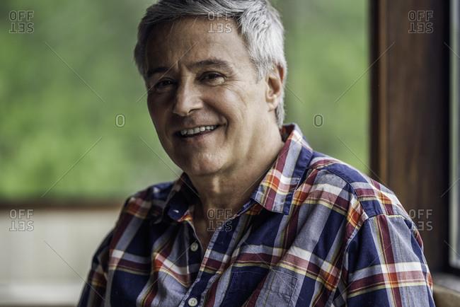 Portrait of mature man alone