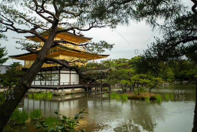 Temple of the Golden Pavilion with pond