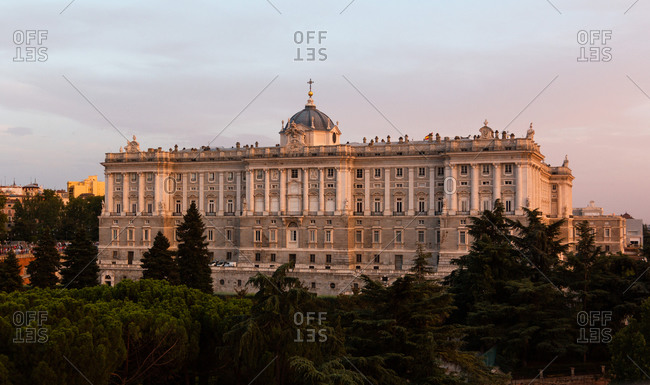 Royal Palace in Madrid from afar