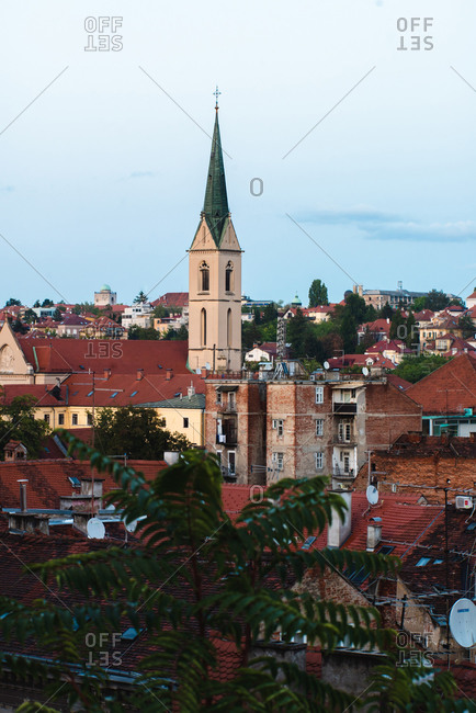 Croatia - May 6, 2020: May 6, 2020: View of church in cityscape