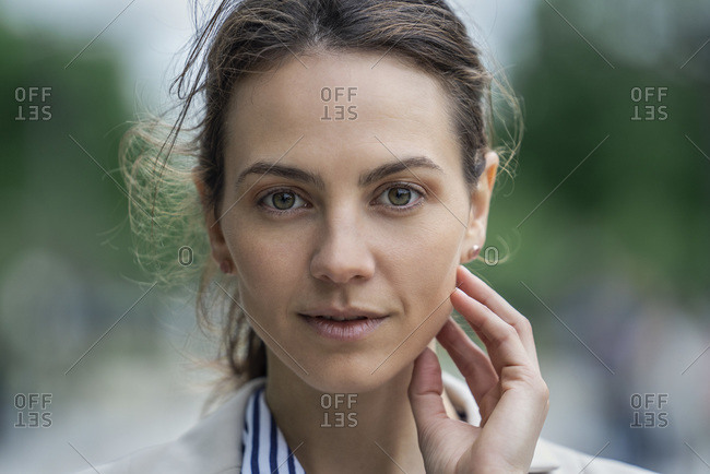 Close up of businesswoman in a blazer