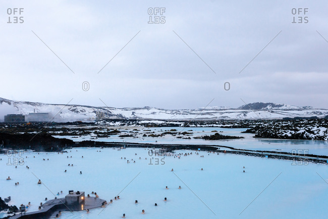 View over the Blue Lagoon in Iceland