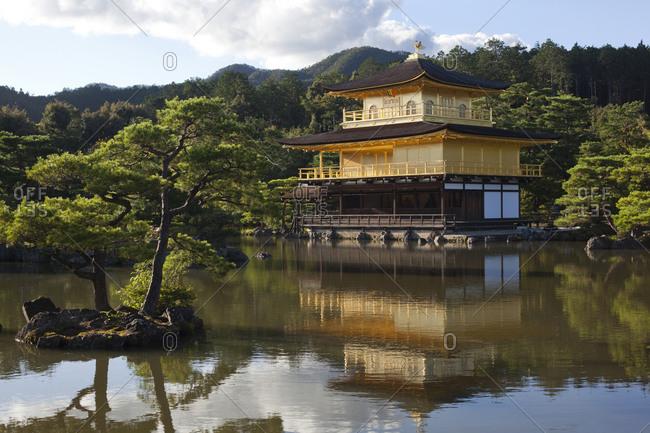 Kinkaku-ji temple (aka Golden Pavilion or Rokuon-ji) in Kyoto, Japan
