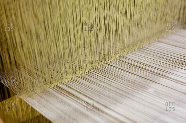Loom used to weave silk Japanese clothing and accessories