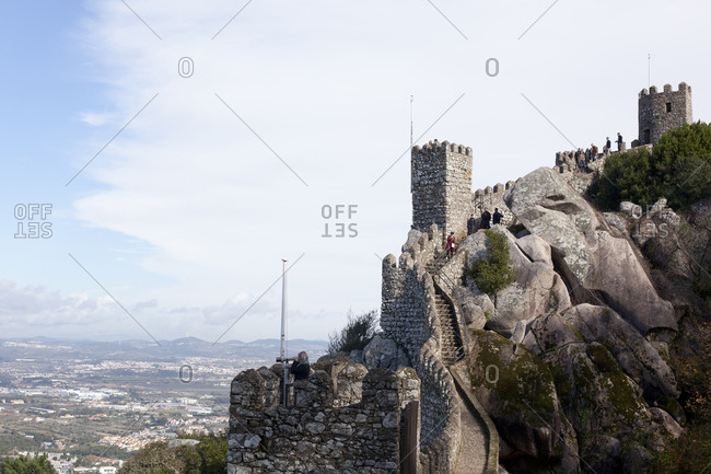 November 22, 2018: Castelo dos Mouros in Sintra, Portugal (Castle of the Moors)