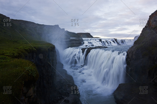 The famous waterfall Gullfoss on the golden circle