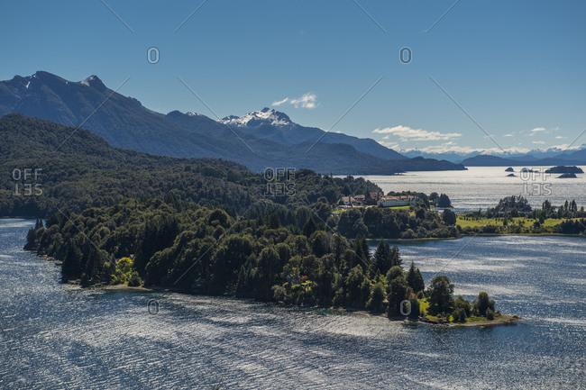 Elevated view of the Nahuel Huapi Lake close to Bariloche - Argentina