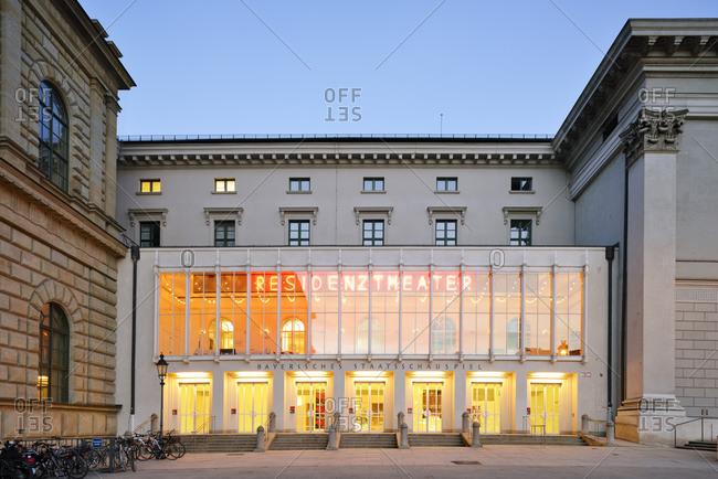 April 15, 2015:  - April 15, 2015: Germany- Bavaria- Munich- Residenztheater at blue hour