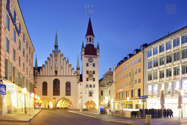 April 16, 2015:  - April 16, 2015: Germany- Bavaria- Munich- Altstadt-Lehel- Toy Museum in the old townhall tower in the evening