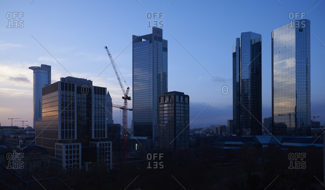 December 20, 2016:  - December 20, 2016: Germany- Frankfurt- view to skyscrapers at financial district