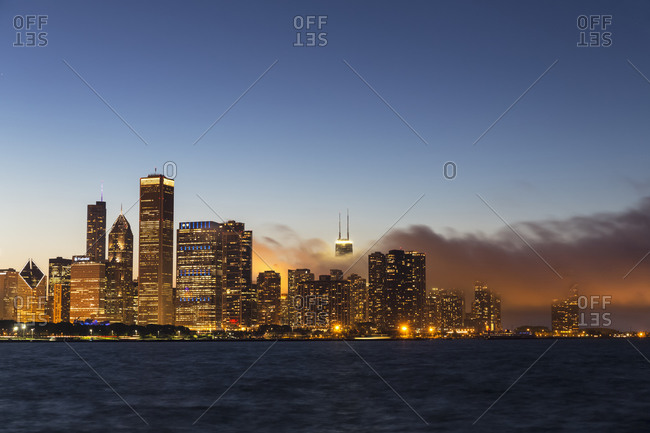 June 3, 2014:  - June 3, 2014: USA- Illinois- Chicago- Skyline and Lake Michigan in the evening light