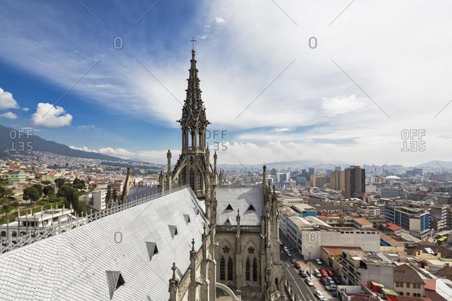 November 2, 2014:  - November 2, 2014: Ecuador- Quito- steeple of the Basilica of the National Vow