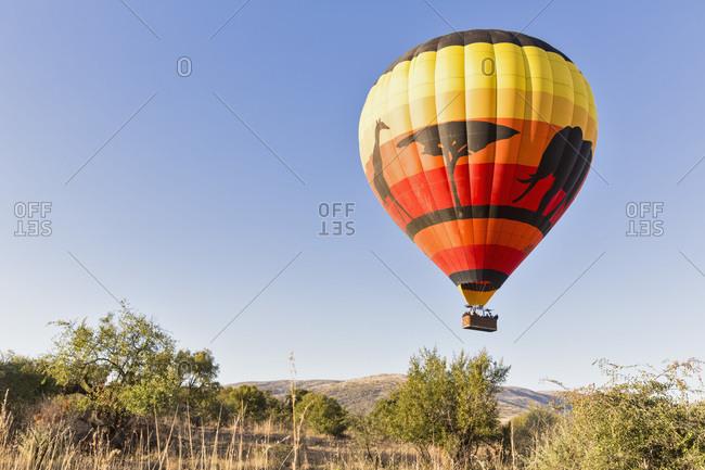 May 4, 2015:  - May 4, 2015: South Africa- North West- Bojanala Platinum- hot-air balloon at Pilanesberg Game Reserve