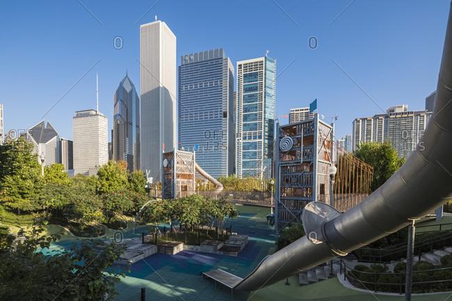 September 25, 2017:  - September 25, 2017: USA- Illinois- Chicago- Maggie Daley Park and Skyline