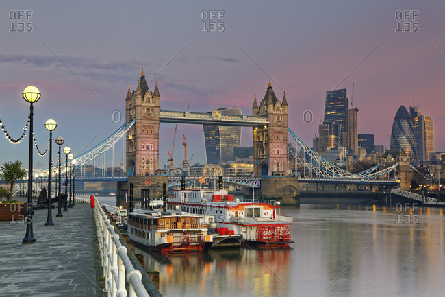 December 28, 2016:  - December 28, 2016: UK- London- River Thames and Tower Bridge at dusk