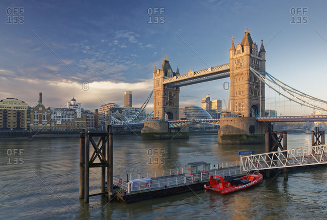 December 28, 2016:  - December 28, 2016: UK- London- River Thames and Tower Bridge as seen from St. Katharine's Pier