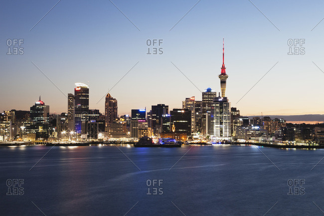 February 17, 2013:  - February 17, 2013: New Zealand- Auckland- View of city during sunset