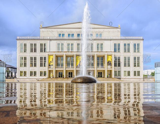 August 10, 2016:  - August 10, 2016: Germany- Leipzig- view to opera house at Augustusplatz