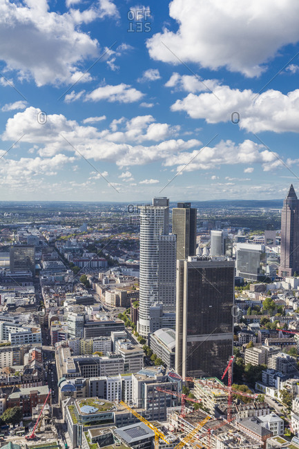 September 28, 2015:  - September 28, 2015: Germany- Frankfurt- view to the city with financial district from Main tower