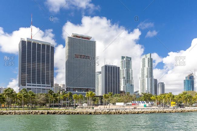 January 1, 2019:  - January 1, 2019: USA- Florida- Miami- Bayfront Park with skyline