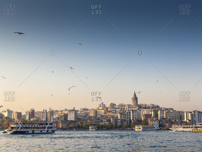 May 5, 2012:  - May 5, 2012: Turkey- Istanbul- view to Galata Tower over Golden Horn