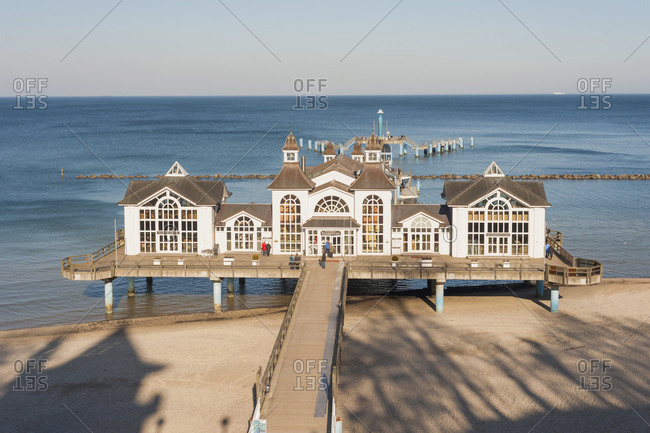 February 22, 2014:  - February 22, 2014: Germany- Mecklenburg-Western Pomerania- Ruegen- sea bridge at Baltic seaside resort Sellin