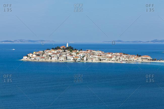 Croatia- Dalmatia- Primosten peninsula on a bright blue day