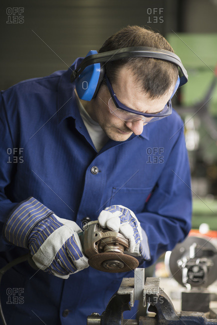 Germany- Kaufbeuren- Man working in manufacturing industry