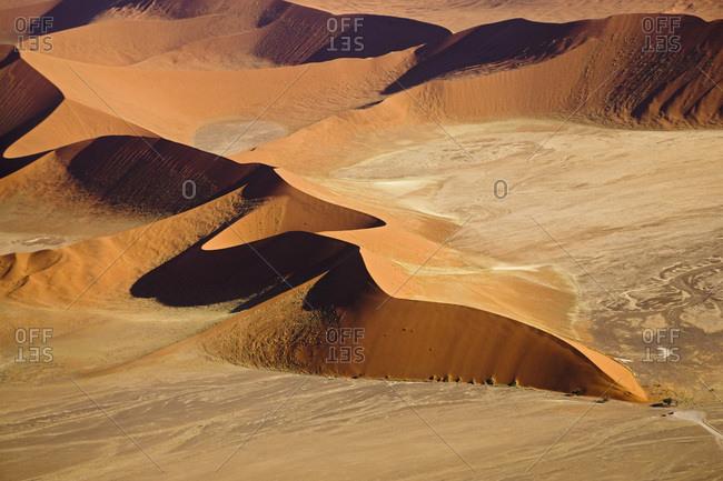 Africa- Namibia- Sossusvlei- Desert landscape- Aerial view