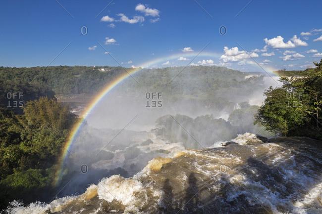South America- Argentina- Parana- Iguazu National Park- Iguazu Falls- Rainbow