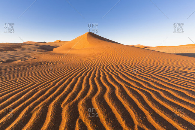 Africa- Namibia- Namib Desert- View to desert dunes at Namib-Naukluft National Park