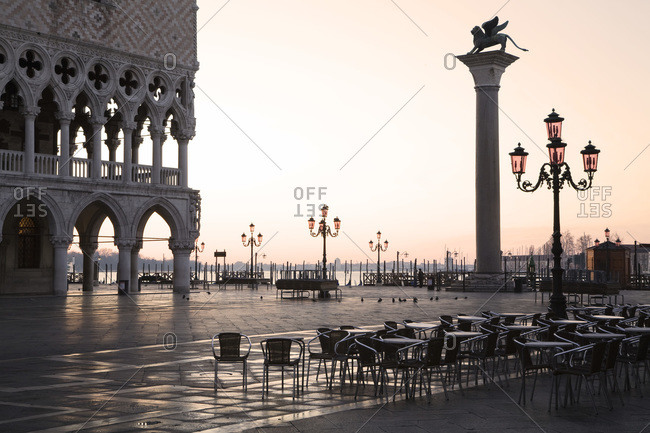 Italy- Venice- Doge's Place at dawn