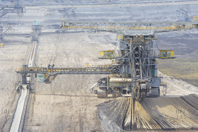 Germany- Saxony- Schleenhain- View of brown coal mining